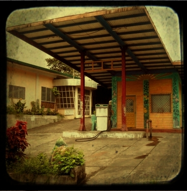 Old gasoline station