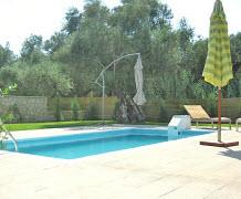The enclosed pool at Villa Azure on Zante by Sunisle Holidays