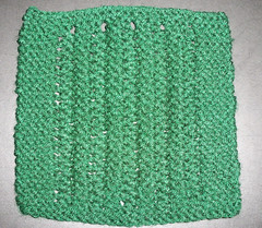 Comfortghan - Simple Garter Stitch Lace - Hunter Green