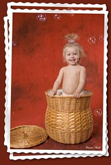 BasketFun (MissSmile) Tags: red portrait baby holiday color girl smile studio children kid child bright creative bubbles present a ultimateshot betterthatgood