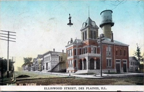 Ellinwood & Lee - Sent 1909 - Colorized Theide Photo