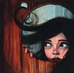"""Knothole"" (verpabunny) Tags: show original painting acrylic kellyvivanco infinitysquared distinctiongallery"