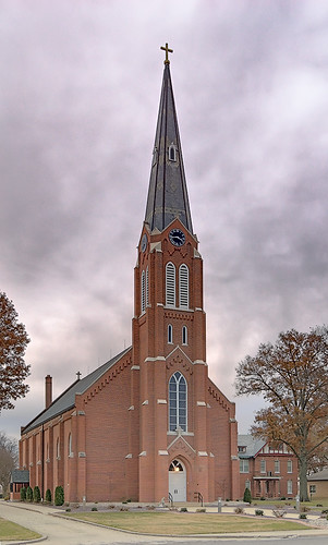 Saint Cecilia Roman Catholic Church, in Bartelso, Illinois, USA - exterior 2