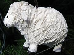 Paper maché sheep
