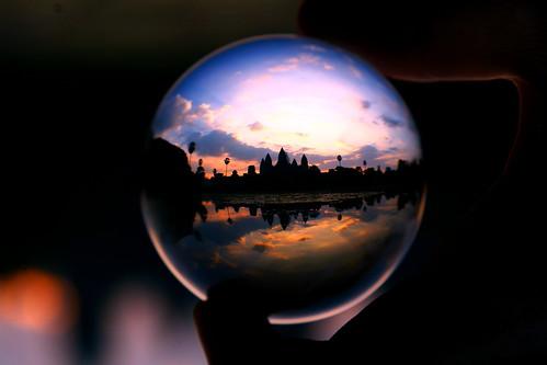 Angkor Wat in a crystal ball