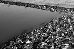 texture (vauka) Tags: sea bw nature water lines rock stone landscape pattern geometry north calm textures 32 wesermarsch 8717 sehestedt monochromia