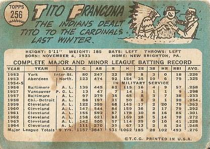 Tito Francona (back) by you.
