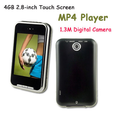 4GB 2.8 Inch Digital Media MP4 Player,2.8 Inch Touch Screen 4GB 1.3M Camera Mp3 MP4 Player