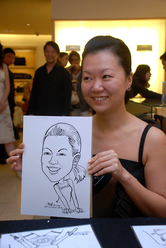 Caricature live sketching for Bulgari Christmas Brunch - 8