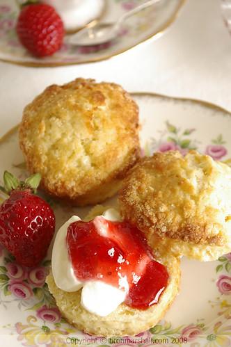 Strawberry & Cream Scones by Bron Marshall.