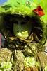 maschera verde con fiore rosso (Nicola Zuliani) Tags: venice verde carnevale venezia maschere nizu nicolazuliani wwwnizuit