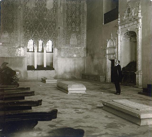 Sinagoga del Tránsito (Toledo) en 1913. Fotografía de Luis Calandre Ibáñez