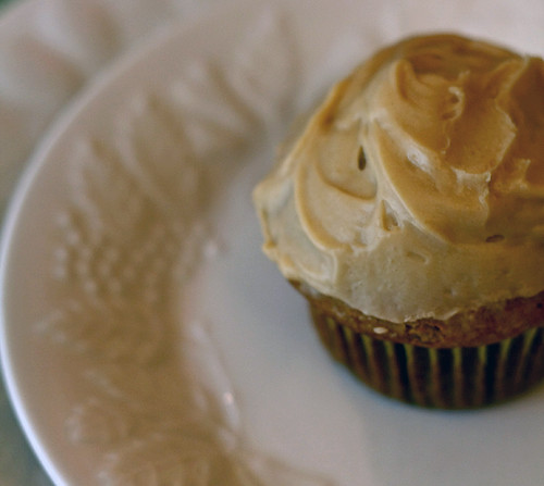 Vegan agave cupcake