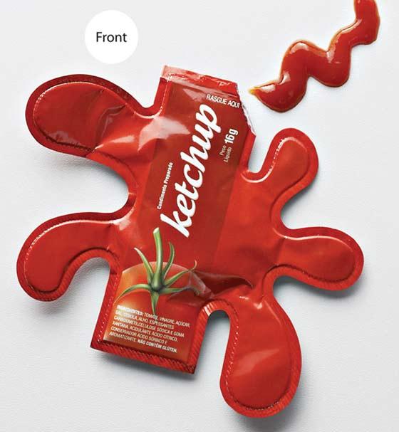 bolsa con salsa de tomate