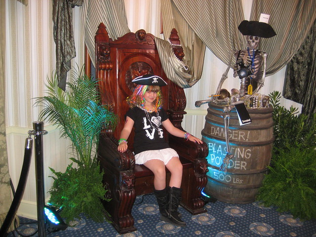 11-0507 POTC Premiere-Piper sitting on the throne in Lincoln center with an ominous press skeleton by PiperReese