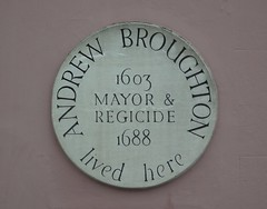 Photo of Andrew Broughton white plaque