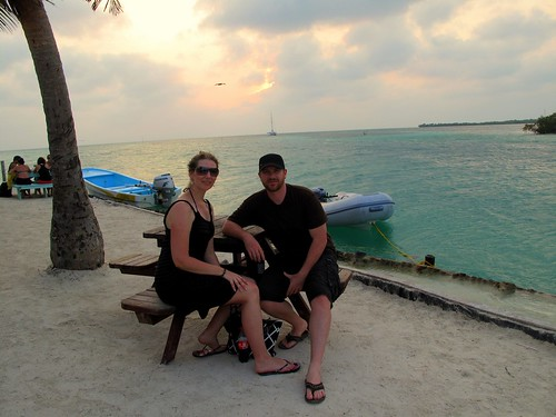 Sunset at the Split - Caye Caulker, Belize