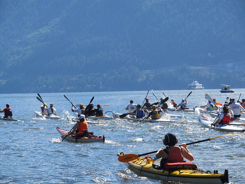 Round Bowen Challenge: A 32 km Paddle Race Around Bowen Island Near West Vancouver