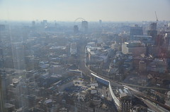 Railway line into Charing Cross, seen from the Shard (Ben Sutherland) Tags: london shard oblix londonrestaurant theshard oblixrestaurant