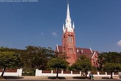 Church in Yangon (Stanley Sun) Tags: street sky building church daylight colorful asia yangon belief sunny myanmar streetscape