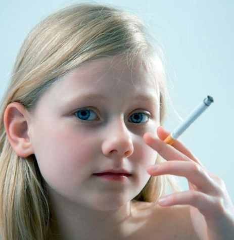 Young Teen Girl Smoking