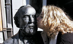 Adolphe Sax being kissed by Betsy
