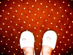 Why do hotel slippers always make your feet look like they're basically round?