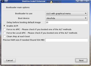 memilih bootloader di instalasi pclinuxos