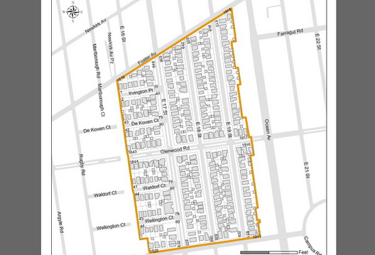 Fiske Midwood Terrace Map
