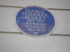 Photo of George Frederick Bodley blue plaque