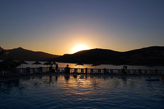 sunset (ant.ronald) Tags: sunset sea holiday pool night turkey nikon silhouettes naturesfinest d40 challengeyou challengeyouwinner