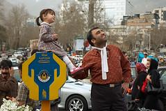 With Dad in Tajrish (kamshots) Tags: charity urban magazine photo blog dad with iran box father daughter donation tehran tajrish hcsp kamyaradlportfolio tehexhib