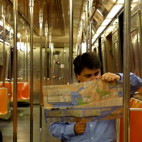 Me and the NYC Subway map