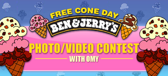 Ben & Jerry's photo/video contest with omy
