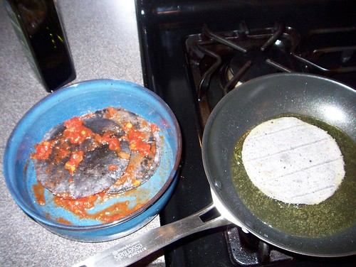 frying tostadas