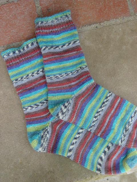 ONline Toe-up Socks by debknits