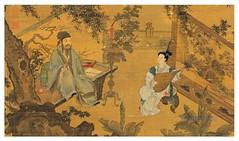 T'ao Ku Presentación de una cancion a Ch'in Jo-lan -detalle- T'ang Yin -(1470-1532)-Dinastía Ming-tamaño 168X102 cms
