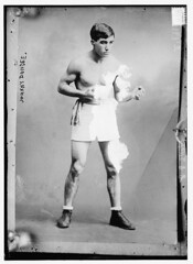 Johnny Dundee  (LOC) (The Library of Congress) Tags: shirtless dundee boxer libraryofcongress boxing youngman featherweight lacunae xmlns:dc=httppurlorgdcelements11 dc:identifier=httphdllocgovlocpnpggbain11252 carrora
