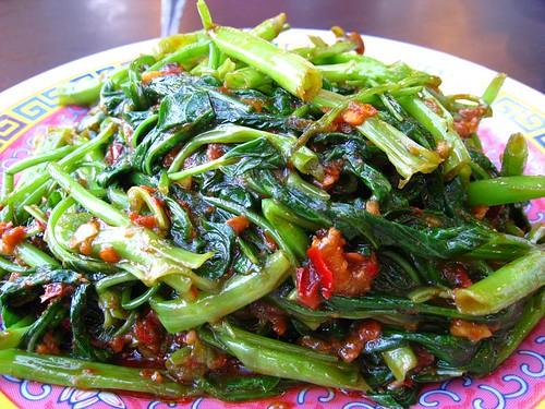 Fried Kang Kong with Sambal Belachan