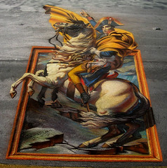 3D Street Painting - Napoleon Escapes by Tracy Lee Stum