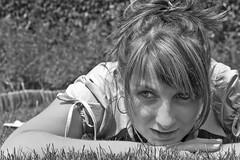 Bára (pavel conka) Tags: girls portrait blackandwhite bw sexy eye girl beautiful face female digital canon hair eos women pretty raw czech prague prag praha praga gras portret pavel bára 30d portrét dívka tráva femine vlasy barbora ruce děvče oči tvář conka