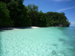 Ulong Is (Spotted drum  (on & off)) Tags: ocean blue sea vacation sky cloud tree beach beautiful island sand pacific palau micronesia ulong