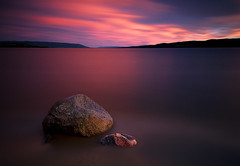 Summer Daze (Anders Hagen-Nsset) Tags: longexposure sunset summer lake color beach water norway photography rocks mood pastel fineart wideangle scandinavia atmospheric afterglow waterscape 1740l ringerike tyrifjorden canoneos5d buskerud hoyand400