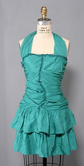 Anti-Label Turquoise Punk Dress (Zwzzy Vintage) Tags: blue green vintage punk dress lace turquoise mini prom etsy tulle halter ruffle ruched bluedress antilabel