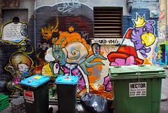 Rubbish Bins (geoftheref) Tags: street travel streetart slr art trash graffiti amazing garbage nikon paint grafitti tag australia melbourne victoria spray bin lane graffitti rubbish dslr tagging bins pictureperfect caledonian degraves damncool smorgasbord maste