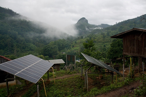 Solar Panels in remote Thai village