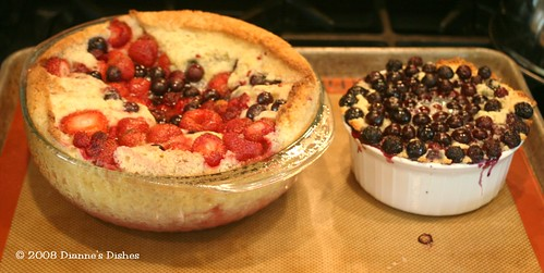 Tuesdays With Dorie: Mixed Berry Cobbler and A Blueberry Cobbler Side Car