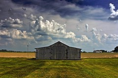 Simple (edwardleger) Tags: sky grass clouds barn rural louisiana 2008 edwardleger exquisiteimage goldenvisions edwardnleger