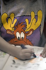 Will you look at this? (Gilad Benari) Tags: cute shirt painting kid eyes hands humor tshirt moos gilad  yotam fuuny    benari  alaskashirt