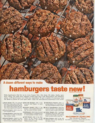 Hamburgers Taste New - McCormick - 1962 (by senses working overtime)